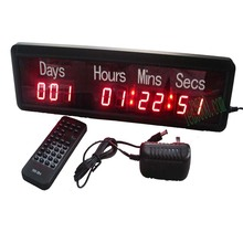 big sport  day,hours,minutes and seconds  led countdown digit clock(HIT9-1R)