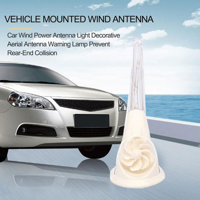 Vehemo Wind Power Automobile Shark Fin Antenna Tail Mount Decorative Antenna Multi-Function Wind Power Antenna Replacement