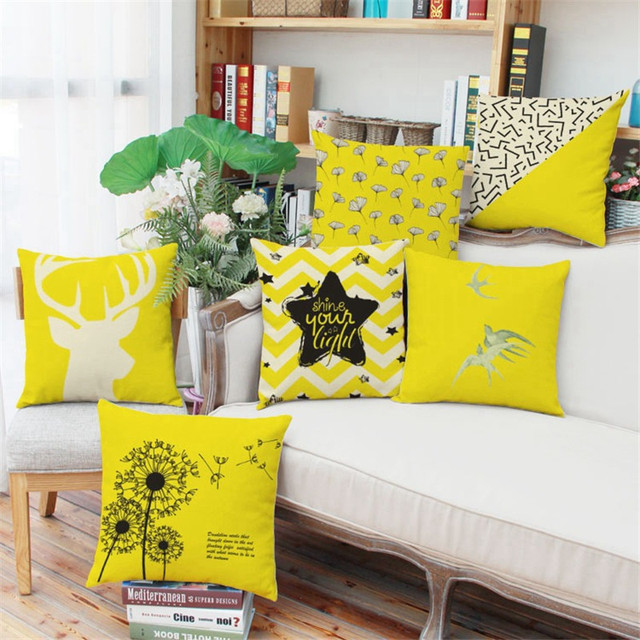 Creative Elk Dandelion Cushion Covers Throw Pillow Covers Decorative Europe housse de coussin 45cm 60cm Square coussin de salon