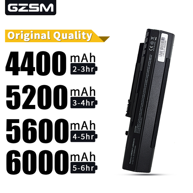 HSW BLACK 6cell battery For Acer Aspire One A110 A150 D210 D150 D250 ZG5 UM08A31 UM08A32 UM08A51 UM08A52 UM08A71 UM08A72 UM08A73