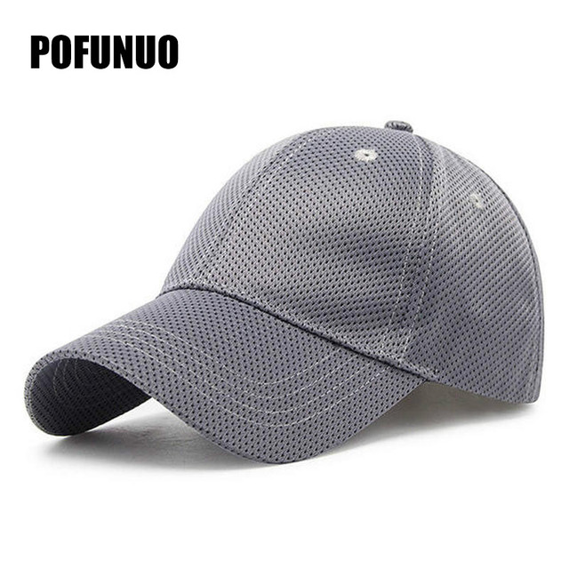 2018 Hot Couple Fashion Mens Womens Polyester Baseball Caps Mesh Breathable Outdoor Sport Sunshade Hats Casual Peaked Cap Hat