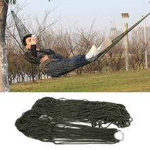 Outdoor  Sleeping hammock hamaca hamac Portable Garden Camping Travel furniture Mesh Hammock swing Sleeping Bed Nylon HangNet