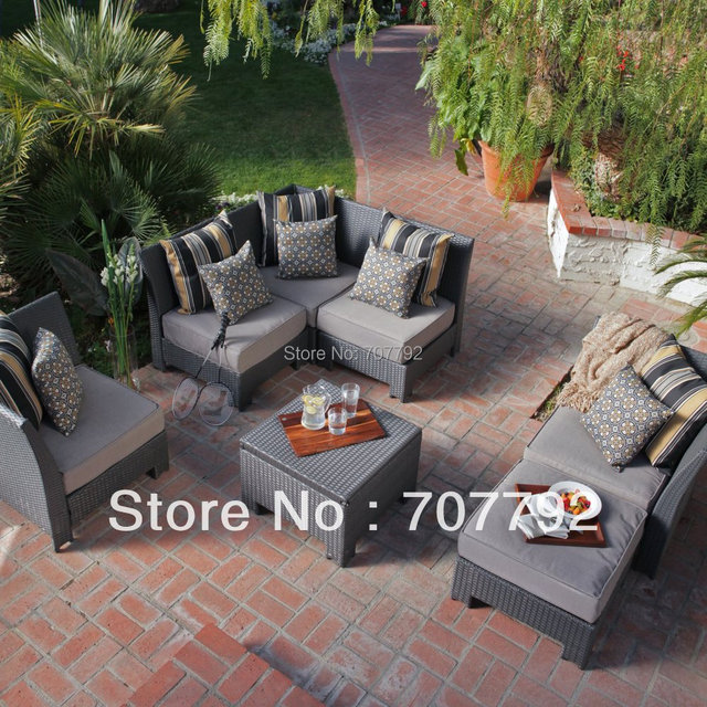 Hot sale new design wicker All-Weather Wicker Sectional Set - Seats 4