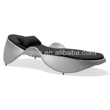 New Style Modern Balconies Wicker Daybed Outdoor Cheap Chaise Loungers