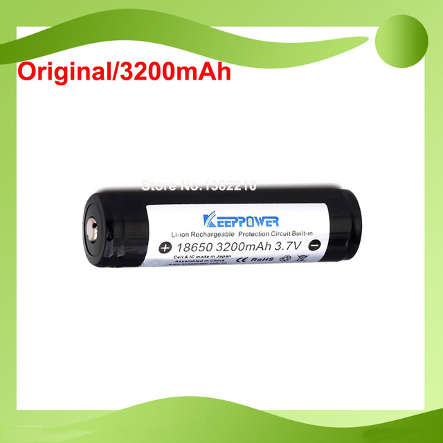 Free Shipping!! 10PCS/lot 100% Original  Keeppower 3.7V 18650 3200mAh Protected battery with cell for Panasonic