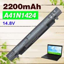 2200mAh 14.8V New A41N1424 Laptop Battery for ASUS ROG FX-PLUS ZX50 ZX50J ZX50JX GL552 GL552J GL552JX GL552V GL552VW