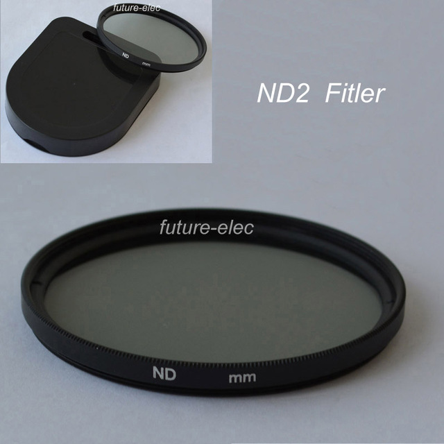 ND2 37mm 40.5mm 43mm 46mm 49 ND 2 Filter Neutral Density Lens Filters Full Color Colour Grey Gray For Canon Nikon Camera Lenses