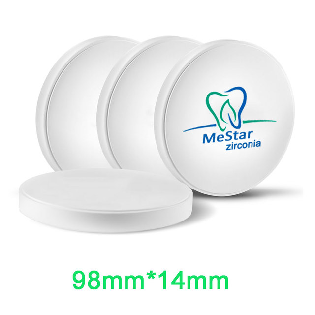 OD98mm*14mm Zirconia Discs for Dental labs CADCAM Compatible with Open System, VHF,  Wieland, Imes-Icore, Roland etc..