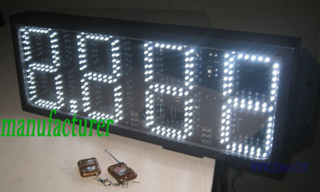 Outdoor white color 8.889 gas price sign 8inch 4digits white led gas price sign free shipping outdoor usage