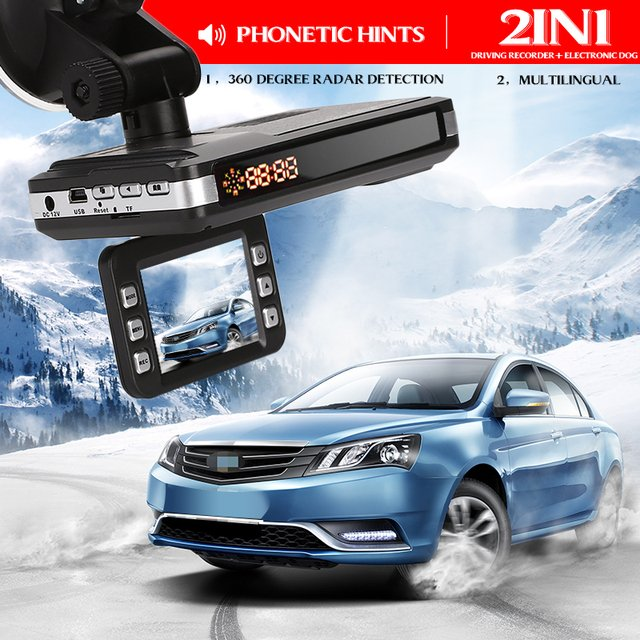 Car DVR Rocorder Night Vision Drive Safely Video Recorder Durable 360 Drgrees Tracker G-Sensor 720P 2 in 1 LCD Display