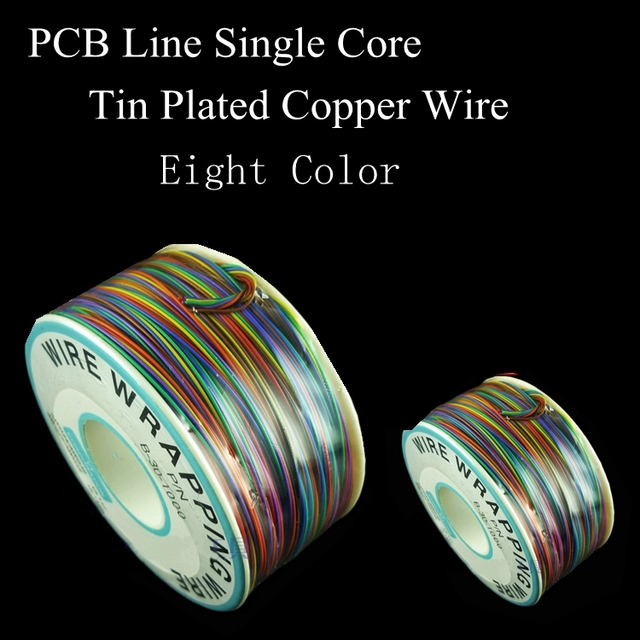 AWG30 8 Colors Electrical Wrapping Wire Single Core Copper Cable OK Line Circuit Board PCB Jumpers Fly Airline Connecting Line