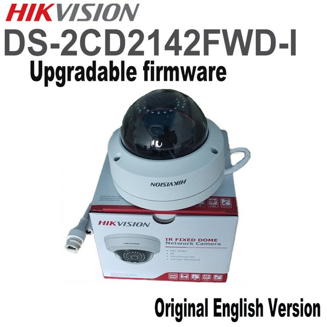 Hikvision Original English Version Security Camera DS-2CD2142FWD-I 4MP WDR Fixed Dome IP Camera IP67 POE CCTV Camera