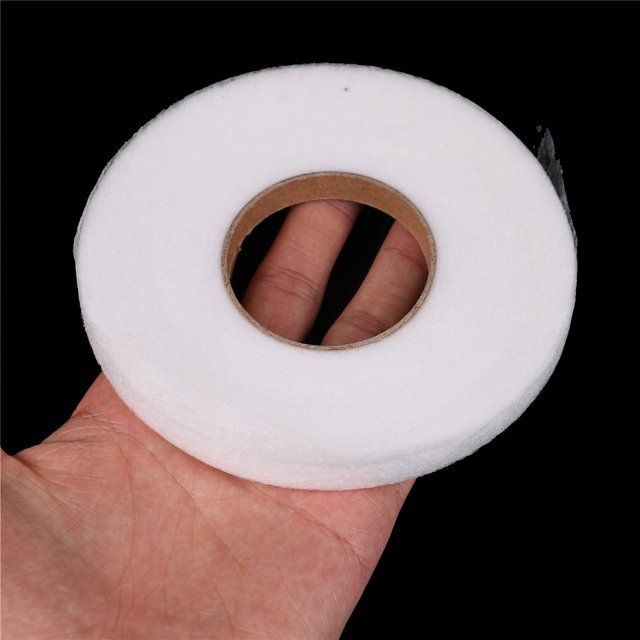 DIY Cloth Apparel White Double Sided 70 Yards 1cm Adhesive Tape Fusible Interlining Fabric Tape Iron On Sewing Accessories