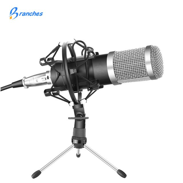 BM-800 Professional Condenser Microphone Kit:Microphone For Computer+Shock Mount+Foam Cap+Cable As BM 800 Microphone BM800