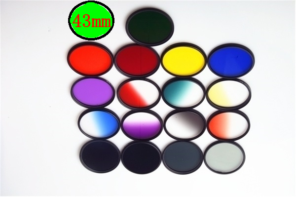 43mm Graduated Filter Full Colors Filter Gradient color Filter for Sony Nikon Canon EOSM M2 EF-M 22mm f/2.0 STM Lens all 43 mm
