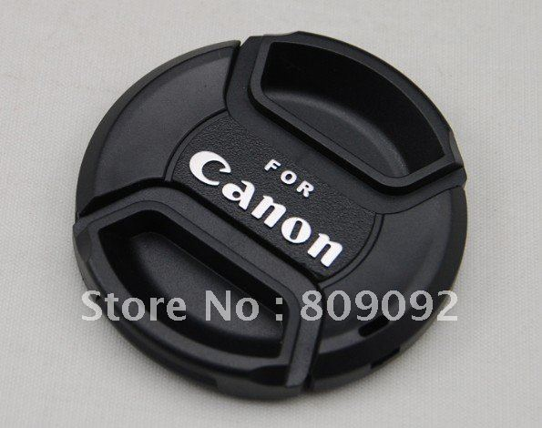77mm Universal Front Lens Cap Cover with Strap for Canon