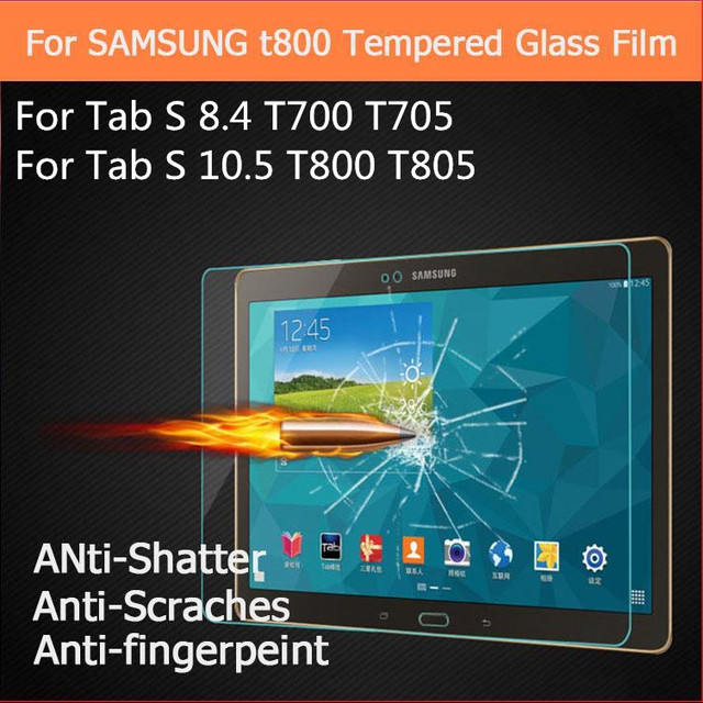 Tempered Glass Screen Protector For Samsung Galaxy Tab S 8.4 10.5'' SM-T700 SM-T705 T705C SM-T800 T805 Tablet Protective Film