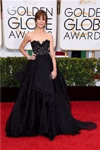73rd Golden Globe Awards Evening Celebrity Dresses A-Line Off the Shoulder Sleeveless Formal Gowns Black Lace Organza Lace Up