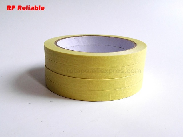 3mm~200mm Single Adhesive Masking Tape, Crepe Paper, Mid-Temperature Resist around 110C, for Car Auto Painting Mask, Can Writing