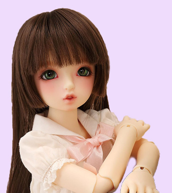 1/3 1/4 1/6 BJD Doll Hair Wig SD Doll Wig Wire Fashion Staight Toy Hair Wig Doll Accessories