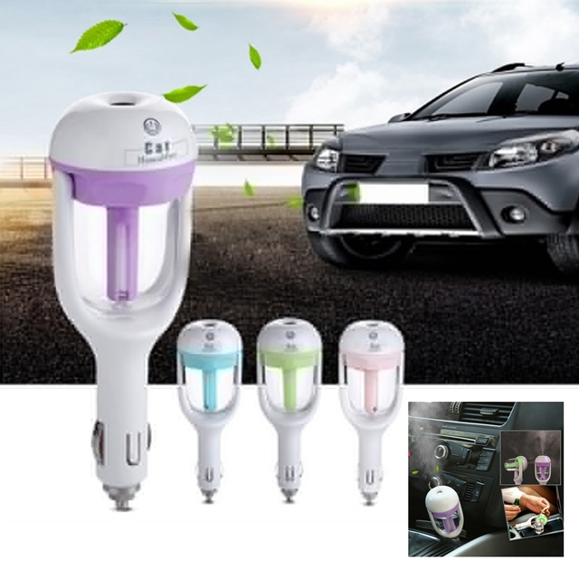 2019 New Car charger Humidifier Aroma Diffuser Mini Air Purifier Auto Air Freshener Aromatherapy Essential  Mist Maker Fogger
