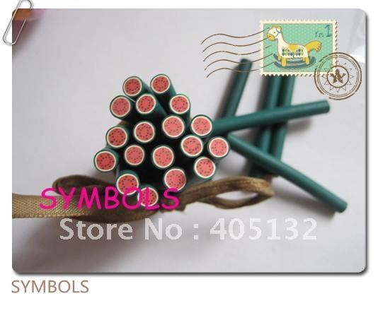 a-03 Free Shipping 100pcs 5mm Round Watermelon Polymer Clay Cane Fancy Nail Art  Polymer Clay Cane