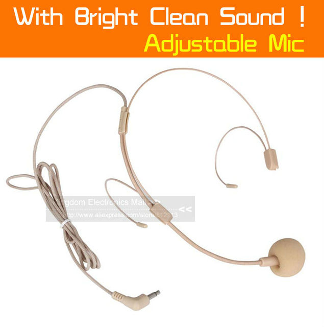 High Quality Flesh Color Invisible Colour Quality 3.5 mm Connector Headset Microphone Mike For Voice Amplifier Loudspeaker