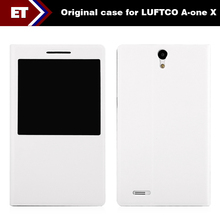 Original 7 inch Luftco cross A-one X Magnetic Cover Case with windows and stand white color PU Leather Free Shipping