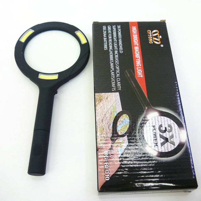 Magnifying Glass Handheld Illuminated Magnifier With Led Light And Super High Clarity