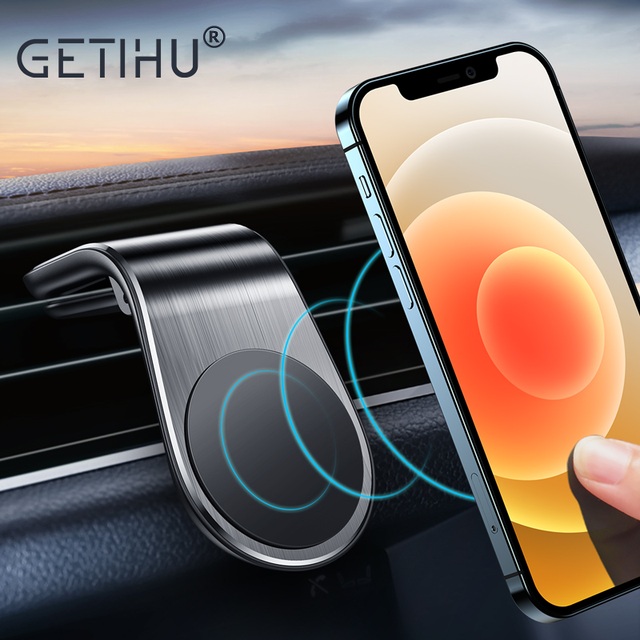GETIHU Magnetic Car Phone Holder Air Vent Mount Mobile Cell Stand GPS Support  For iPhone 12 11 Pro Max Xr Xs 8 7 Xiaomi Samsung