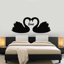 Couple Swans Birds Wall Decal Love Romance Bedroom Vinyl Wall Stickers For Livingroom Romantic Home Interior Design Murals C723 Buy Cheap In An Online Store With Delivery Price Comparison Specifications Photos