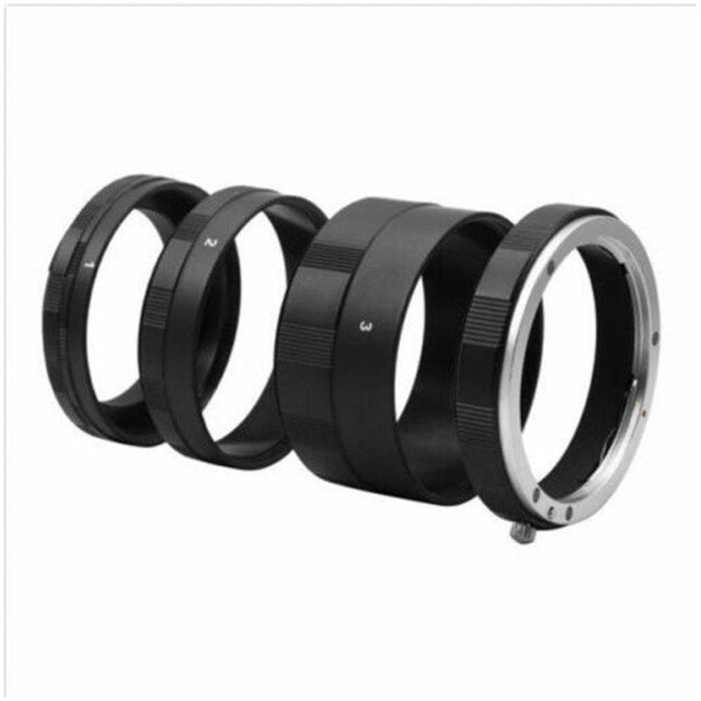3 Ring 9mm 16mm 30mm Macro Extension Tube Set for Canon EOS EF DSLR Camera