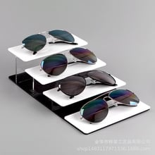 Wholesale Acrylic Black And White Glasses Showing Stand Presbyopic Glasses Sunglasses Sun Glasses Shelves Columns Props Counter