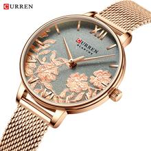 2020 CURREN Women Watches Fashion Casual Stainless Steel Strap Wristwatch for Women Clock Stylish Quartz Ladies Watch