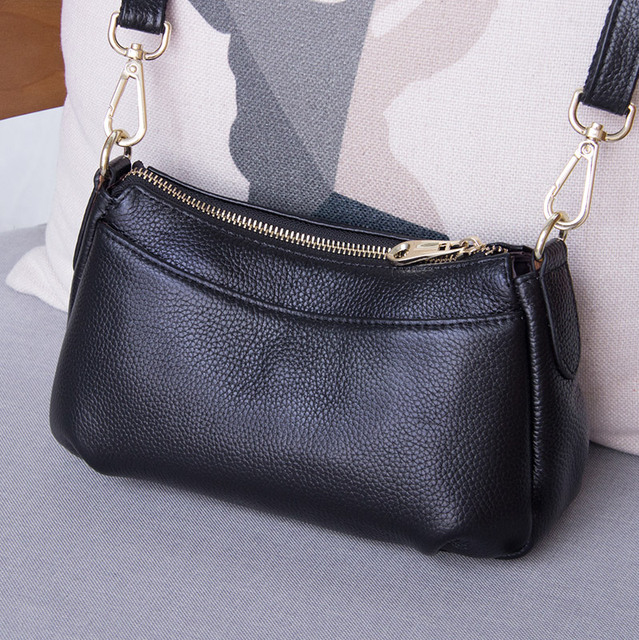 Genuine Leather Shoulder Bags for Women 2020 Fashion Ladies Crossbody Bag Designer Luxury Handbags Tote Purse sac a main