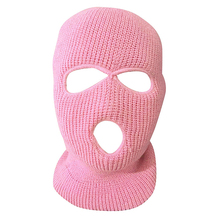 Full Face Cover Mask Three 3 Hole Balaclava Knit Hat Army Tactical CS Winter Ski Cycling Mask Beanie Hat Scarf Warm Face Masks