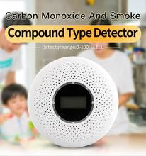 Smoke CO Alarm Detectors Photoelectric Combination Smoke and Carbon Monoxide Detector with Display Battery Operated