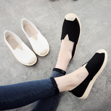 Old Beijing Style Fabric Shoes Soft Flat Bottom Schoolgirl Canvas Shoes Small White Shoes Lazy Flats