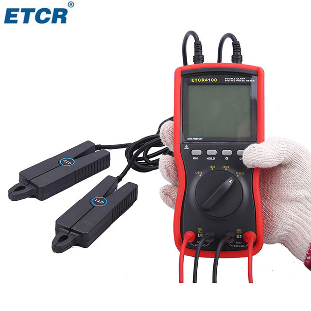 CE ETCR4100 Double Clamp Digital Three Phase Sequence Meter Tester Top Quality