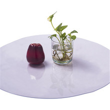 Round PVC Tablecloth Table Cloth Waterproof Transparent Table Cover Mat Kitchen Pattern Oil Cloth Glass Soft Cloth Tablecloth