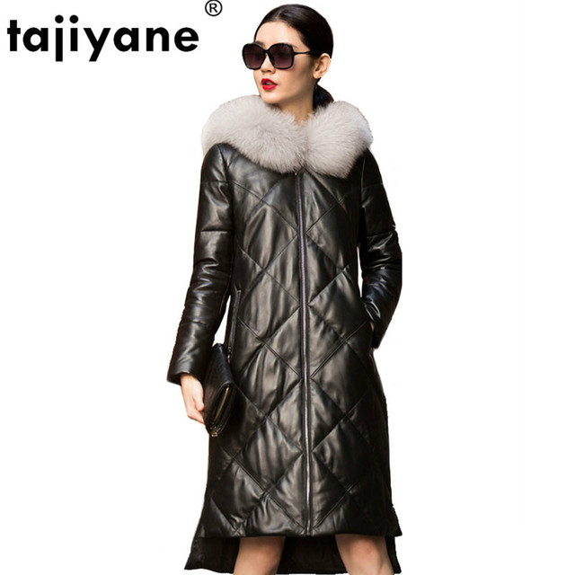 Genuine Leather Jacket Women Fox Fur Hooded Winter Coat Women Clothes 2020 Korean Slim Duck Down Sheepskin Coat Plus Size ZT844