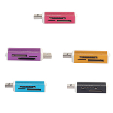 Lighter Shape USB 2.0 All in 1 Multi Memory Card Reader Adapter For Micro SD SDHC TF M2 MMC MS PRO DUO Card Reader