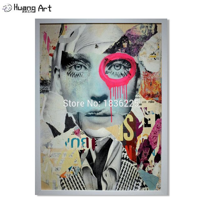 Handsome People Face Oil Painting Hand Painted Pop Art Modern Cool Face Abstract Portrait Painting Magazine Home Decor Wall Art Buy Cheap In An Online Store With Delivery Price Comparison Specifications
