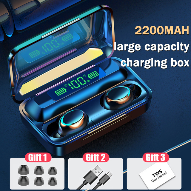 Makarov TWS Bluetooth 5.0 Earphones Wireless Headphone 9D Stereo Sports Waterproof Earbuds Headsets With Microphone Charging Box
