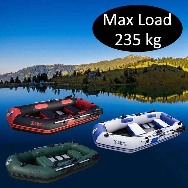 3 Person 230cm PVC Inflatable Rowing Boat Fishing Kayak Canoe Drifting Raft Dinghy Hovercraft Sailboat Surfing Sailing Ship A