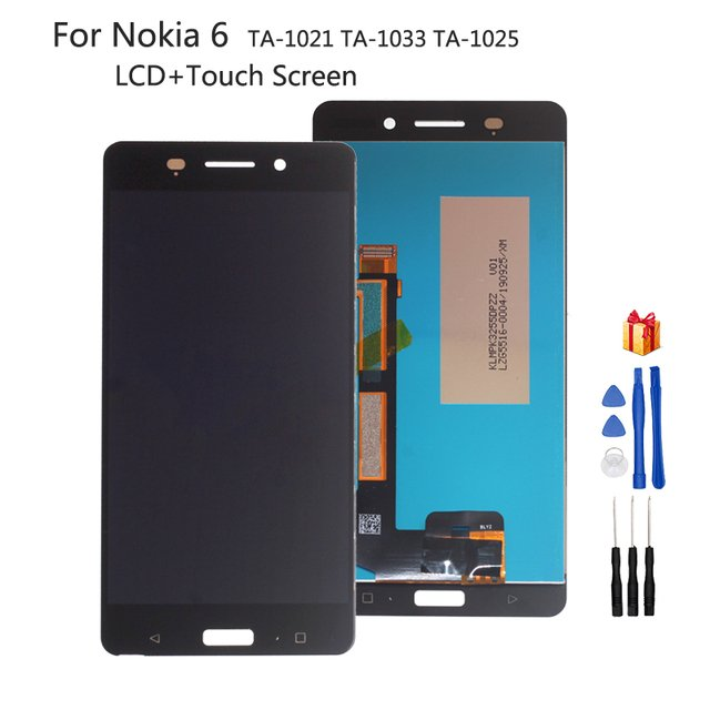 For Nokia 6 LCD Display Touch Screen Digitizer Assembly For Nokia TA-1021 TA-1033 TA-1025 Screen LCD Display Glass Panel + Tools