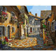YANXIN Landscape DIY Frame DIY Painting By Numbers Oil Painting By Numbers Canvas Wall Art For Home Decor 331