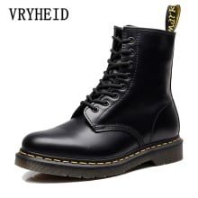 VRYHEID Hot Brand Men Boots Genuine Leather Winter Autumn Shoes Motorcycle Mens Ankle Boots Couple Oxfords Shoes Big Size 34-48