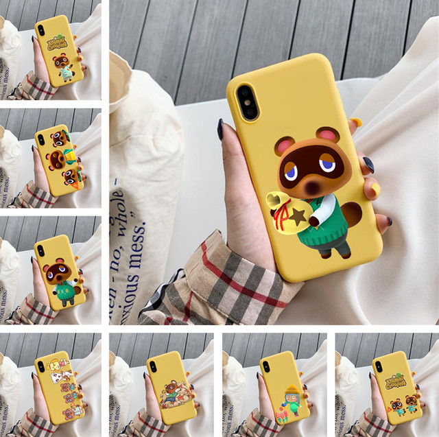 Animal Crossing New Horizons soft yellow phone case For iPhone6 6s 6plus 7 7plus 8 8plus X XS XSMAX 11Pro Case