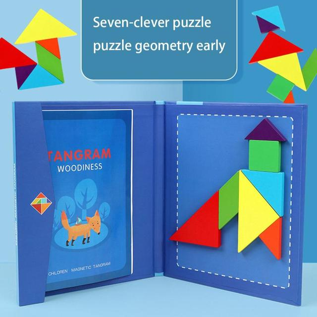 Children's Educational Toys Wooden Magnetic Jigsaw Puzzle Toy Child Geometry Cognitive Toy Early Educational Toys